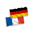 flags france and germany on a white background vector image