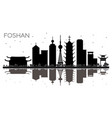 foshan china city skyline black and white vector image vector image