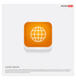 globe icon orange abstract web button vector image