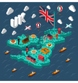 Great Britain Touristic Isometric Map vector image vector image