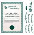 green certificate Template Vertical Additional vector image vector image