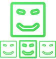 Green line happy logo design set vector image vector image