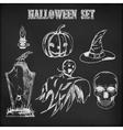 Halloween hand drawn set vector image vector image