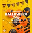 halloween poster design 2 vector image