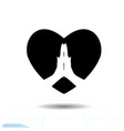 heart black icon love symbol the vector image vector image