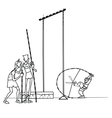 High jump athletes athletics vector image vector image