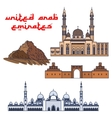 Historic architecture of United Arab Emirates vector image vector image