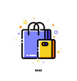 icon shopping bags for retail and consumerism vector image vector image