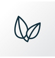 leaves icon line symbol premium quality isolated vector image