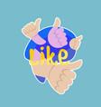 like sticker social media network message badges vector image vector image