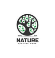 logo nature silhouette style vector image