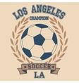 Los angeles soccer vector image