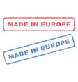 made in europe textile stamps vector image vector image