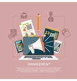 Management objects business and office items vector image vector image