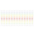 medieval sword shape halftone spectrum pattern vector image vector image