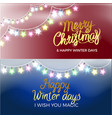 merry christmas garlands on vector image vector image