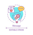 message concept icon vector image