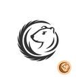 mink elegant logo vector image vector image