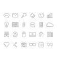 mono line pictures set of various symbols for vector image vector image