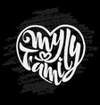 my family of badges logo famil vector image vector image