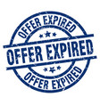 offer expired blue round grunge stamp vector image vector image