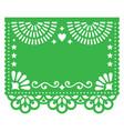 papel picado blank template design floral vector image vector image