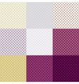 Polka dot seamless pattern or background set vector image