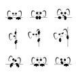 Sad and angry Emoji with ears and paws vector image vector image