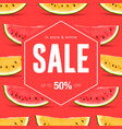 sale discount social media poster vector image vector image