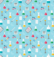 Seamless chemical pattern Chemical glassware and