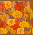 seamless pattern with autumn stylized trees vector image vector image