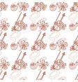 seamless pattern with violin and pipe vector image