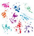 set blots vector image