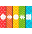 set of colorful seamless stylish patterns vector image