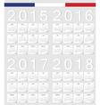 Set of French 2015 2016 2017 2018 calendars vector image vector image