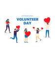 share your love volunteer day concept vector image vector image