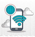 smartphone cloud web vector image