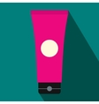 Tube of lubricant gel icon flat style vector image vector image