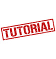 tutorial stamp vector image vector image