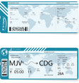 two different variants of boarding pass vector image
