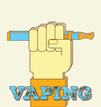 vaping hand fight vector image