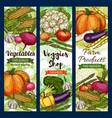veggies shop farm products sketches vegetables vector image vector image