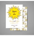 Wedding Invitation With Yellow Flowers vector image