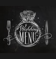 wedding menu chalk vector image vector image