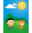 Wheelchair child vector image vector image