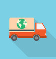 worldwide shipping icon set of great flat icons vector image vector image