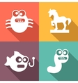Computer Threats Icons flat style vector image