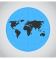 mono blue of Earth made vector image