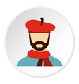 painter in red hat icon flat style vector image