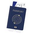 Passport and ticket vector image